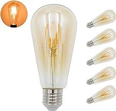 Yaeer 5 Pack Retrofit Classic E27 Filament Bulbs, ST64 Vintage LED Light Bulbs, Warm White 2200K, 350Lm, Energy Saving Edi...