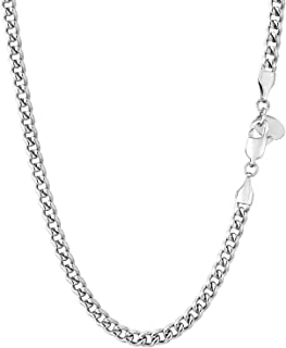 KRKC & CO 3/4 / 6mm Man Chain Necklace, Stainless Steel Cuban Link Chain, 18K Gold/White Gold Plated Cuban Link Chain for ...