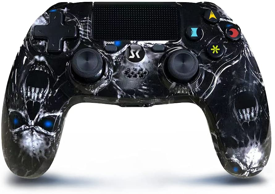 Wireless Controller Bombing new work for PS4 Black Series H Vibration Skull Dual Max 62% OFF