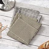 HB life 2Pack Schürze Kochschürze Sterne Schürze 82x71.5cm Baumwolle Leinen Verstellbare Küchenschürze Weiche Kochschürze mit Tasche für Damen und Männer (Gitter/Vertikalstreifen) - 7
