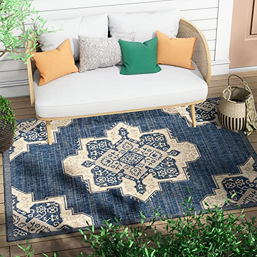 Well Woven Barbola Grey & Ivory Diamond Boxes Geometric Pattern Area Rug 5x7 (5'3' x 7'3')