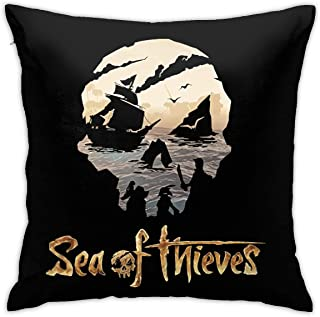 KEENL Sea of Thieves Square Pillow Cases Decorative Square Pillow Protectors for Sofa Couch Bedroom Car Chair Home Decor 18 X 18 Inch