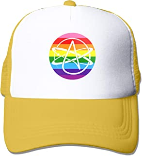 Atheist Pride Flag Adult Mesh Cap Adjustable Baseball Cap Yellow