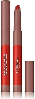 LOreal Paris Make-up Designer - Pintalabios Matte Crayón 110 Caramel Rebel permanente rojo - 22 ml