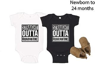Straight outta quarantine premium cotton baby body suit, baby romper