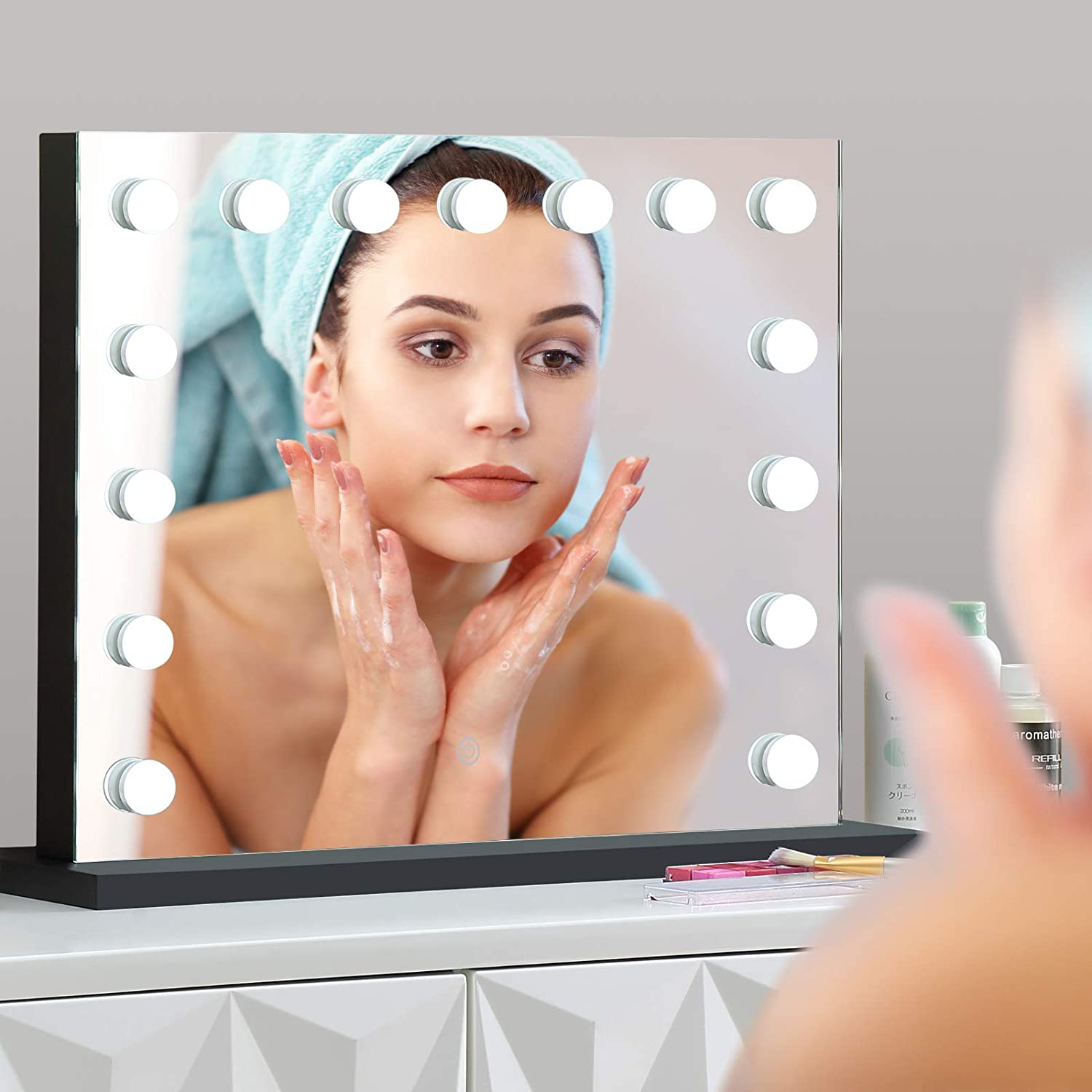 UM Vanity Mirror with Lights 15pcs Makeup LED Mi Removable Max 69% OFF Bulbs New Shipping Free Shipping