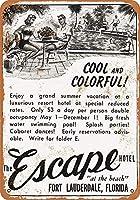 1952年エスケープホテルフォートローダーデールフロリダコレクティブルウォールアート