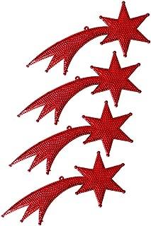 Kuyruklu Yıldız Dekor Süs Kırmızı 18cm 4lü