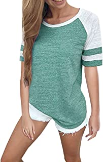 Hengshikeji Baseball Clothing for Women Fashion Ladies Long Sleeve Splice Color Blouse Patchwork Tops