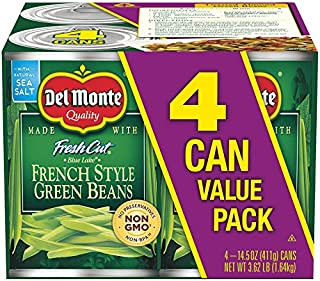 Del Monte Canned Fresh Cut Blue Lake French Style Green Beans, 14.5 Ounce (Pack of 4)