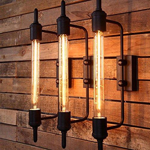 Retro Wandleuchte Metall lange industrielle Käfig Wandleuchten Vintage Wandlampe Loft Beleuchtung für Studie Bekleidungsgeschäft Bar Café warmweiß