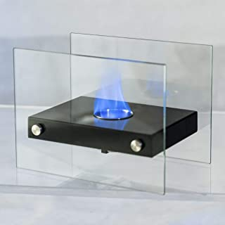 Wenst'sKufAN Indoor Outdoor Fire Pit Tabletop Fireplace Portable Stainless Steel Indoor Outdoor Ventless Bio Ethanol Fireplace Firepit