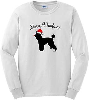 Merry Woofmas Dog Santa Hat Poodle Christmas Long Sleeve T-Shirt