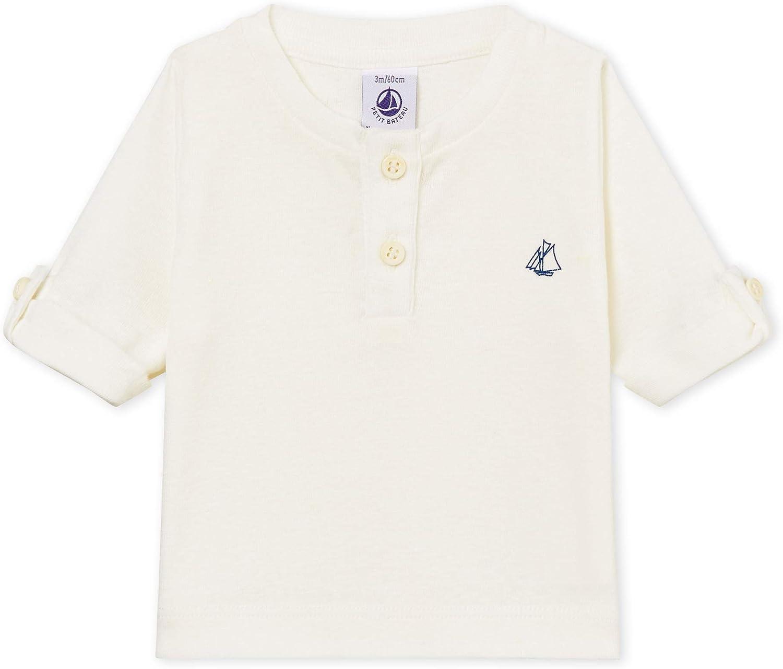 Petit Bateau Baby Boys Branded goods Cotton-Linen Sleeve T-Shirt Over item handling Long
