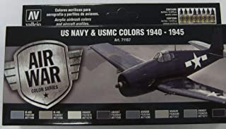 71157 Model Air US Navy & UMSC Colors 1940-1945 Colour Acrylic Airbrush Paint Set