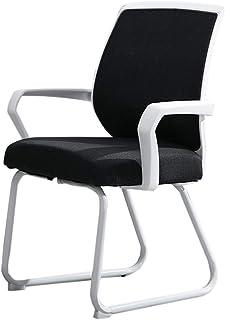 Cómodo Sala de reuniones Silla de recepción, Firme Duradero Escuela de la Oficina de Formación Estudiante Silla de Ordenador Tamaño Silla de Escritorio: 47 * 45 * los 88CM Sillón (Color : Black)