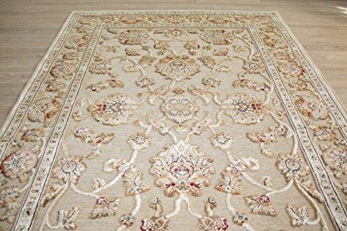 Genova - Alfombras de seda orientales y florales de viscosa y algodón para oficina en casa (160 x 230 cm, oriental)