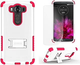 Beyond Tri-Shield Case for LG V10 - Retail Packaging - White/Hot Pink