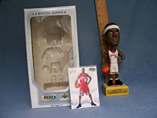 2003 UPPER DECK LEBRON JAMES ROOKIE BOBBLEHEAD AND CARD CLEVELAND CAVALIERS