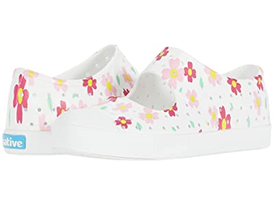 Native Kids Shoes Juniper Print (Little Kid) (Shell White/Shell White/Daisy) Girls Shoes