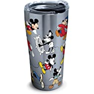 Tervis 1297811 Disney - Mickey Mouse 90th Birthday Stainless Steel Insulated Tumbler with Clear...