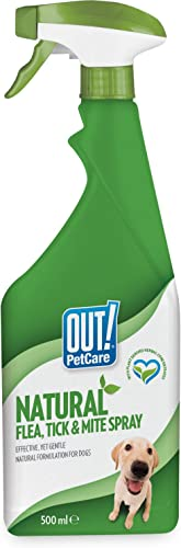 Bramton Out! Natural Flea and Tick Spray, 500 ml