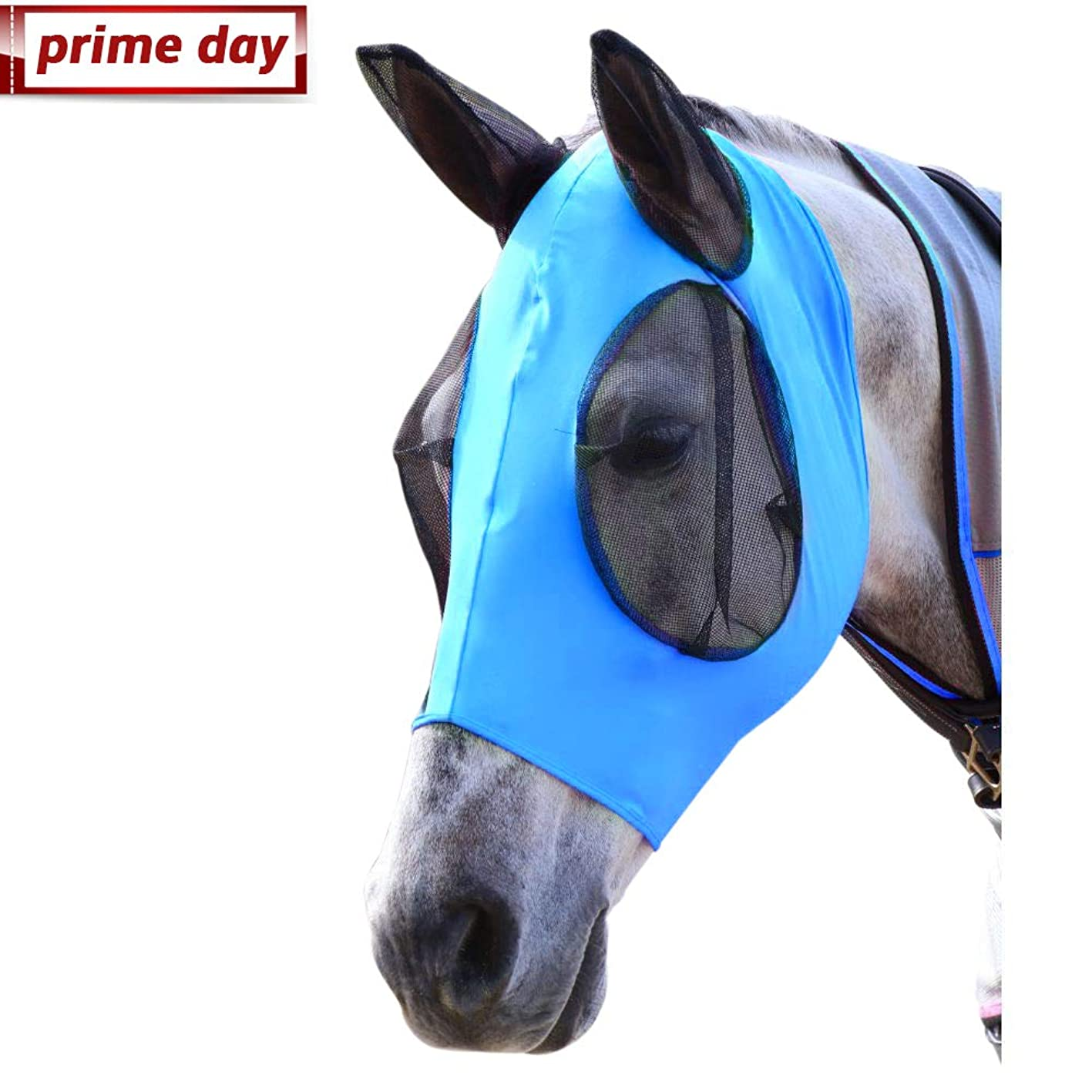 Horse Fly Mask, Fly Mask with Nose and Ears - Mesh Mask Effectively Protects The Horse from Sandstorms, Avoids Direct Light and Blocks The Harassment of Flies While Allowing Full Visibility pyhpmjwqubc434