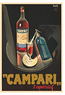 Campari Original Vintage Poster Gift for Men Woman Poster Home Art Wall Posters [No Framed]