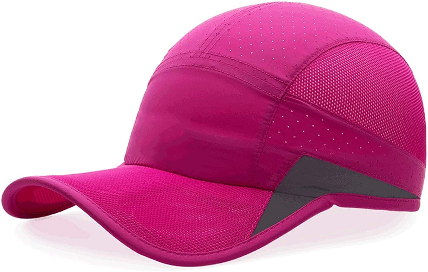 Sun Hat Men's Summer QuickDrying Outdoor Thin Cap Sunscreen Fishing Sunshade Casual Breathable Baseball Cap 5660cm ZHAOSHUNLI (color   Pink)