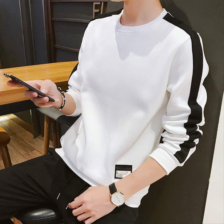 MNBV Sweatshirt Herren Hoodies Langarm Sweatshirt Einfarbig Army Grün Sweatshirt Streetwear Slim Hoodies Herren XL 6701 Weiß Dünn