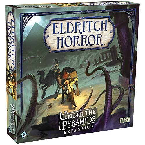 Eldritch Horror Under the Pyramids Board Game EXPANSION | Mystery Game | Cooperative Board Game for Adults and Family | Ages 14+ | 1-8 Players | Avg. Playtime 2-4 Hours | Made by Fantasy Flight Games