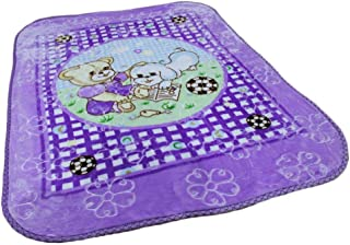 AVI Soft Cartoon Single Mink Blanket (Purple)