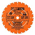 CMT P07024-X04 Contractor Fast Framing Blades for Lumber, Plywood and OSB Sheets, Orange