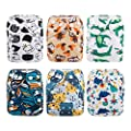 ALVABABY Pocket Newborn for Less Than 12pounds Baby Snaps Cloth Diapers Nappy 6pcs with 12 Inserts 6SVB10