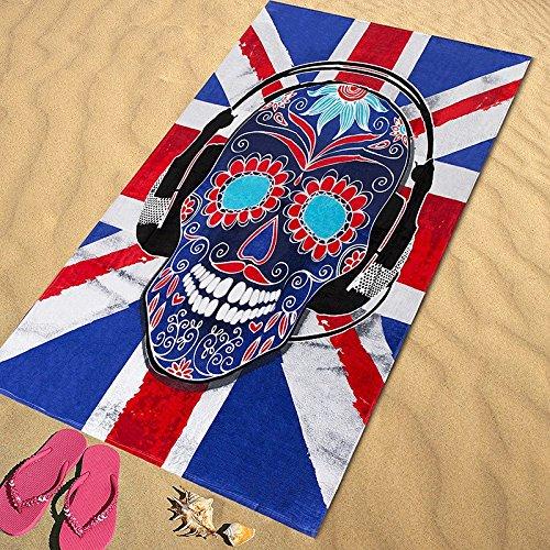 Regalitostv Day of The Dead* Toalla Playa Grande 95 X 175 CM Tacto Terciopelo 100% ALGODÓN (360g) (Londres 218)