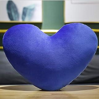 Crazy Corner Blue Heart Shape 2 Printed Pillow for Kids/Boys/Girls (Soft Kids Toy Pillow)-Velvet Pillow for Kids/Pillow fo...