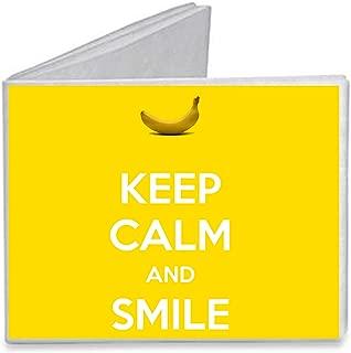 Keep Calm and Smile Banana - Paper Tyvek Wallet