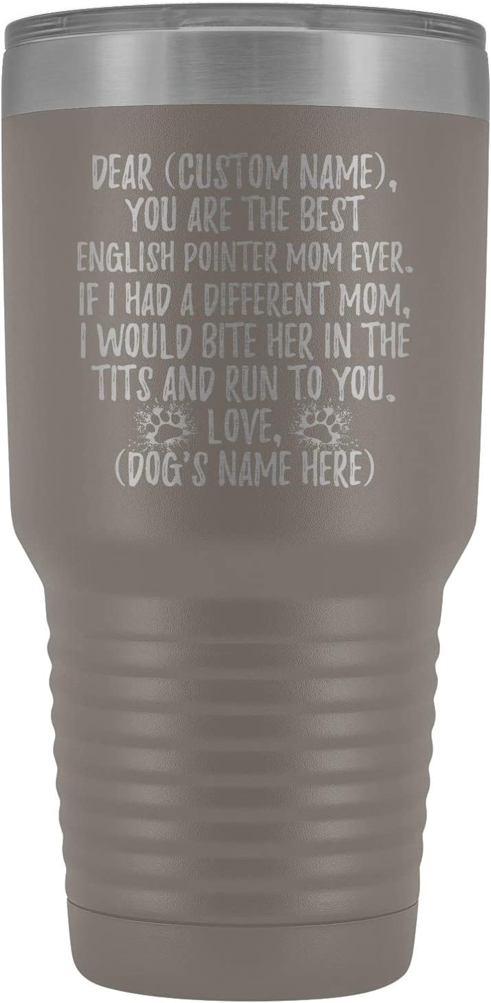 Personalized English Pointer Mom Deluxe Englis Tumbler Mommys Charlotte Mall