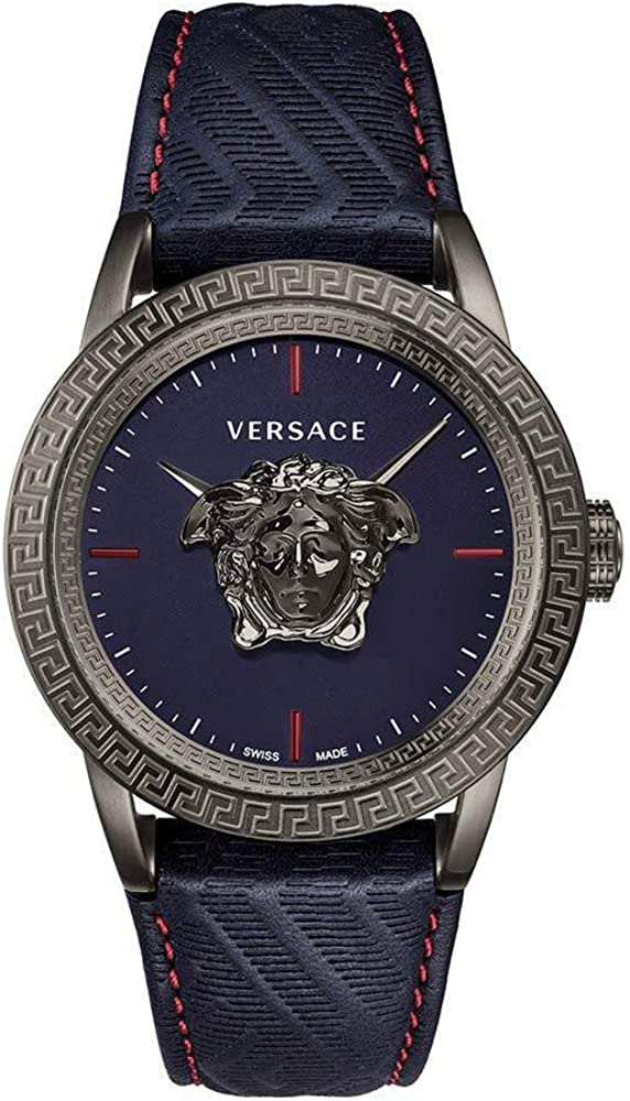 Versace Men´s Watch leatherstrap Quartz Chicago Mall Max 74% OFF VERD00118