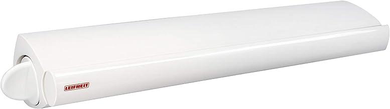 Leifheit Wanddroger Rollfix 210 Longline Waslijn Voor 2 Wasmachineladingen, Uittrekbaar Wasrek, 21 Meter Lijnlengte, Wit