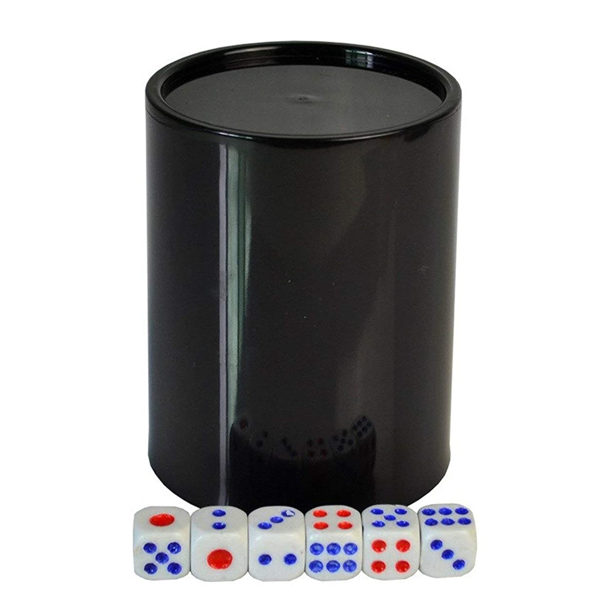 Colorful Gambling Casino Plastic Dice Cup with 6pcs #13 White Dices Texas Hold'em Poker Party Game Dice Cup Game