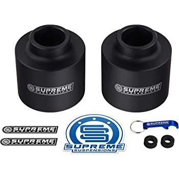 """Supreme Suspensions - Rear Leveling Kit for Chevrolet Avalanche 1500, Suburban 1500, Tahoe and GMC Yukon 1500 3"""" Rear Lift High-Density Delrin Coil Spring Spacers 2WD 4WD (Black)"""