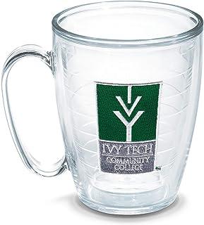 Tervis Caneca individual com emblema Ivy Tech Cc, 473 ml, transparente