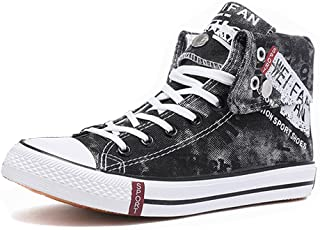 WEONEDREAM Unisex Hi-Top Canvas Lace Up All Star Trainers Casual Shoes
