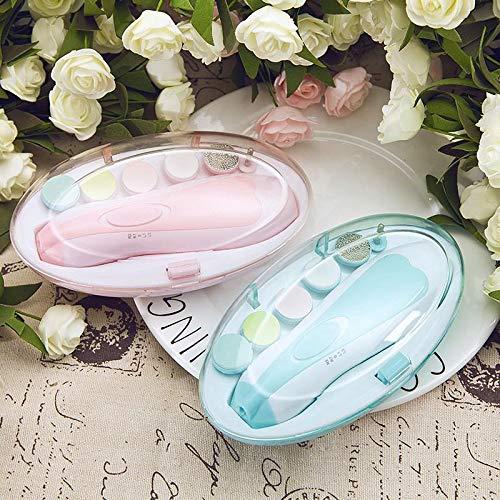 FFM STORE Sweet Baby Nagelfeile mit LED ohne schmerzen mit 6 Ersatz Schleifköpfen, Baby Nail Trimmer für Babys, kinder und Erwachsene
