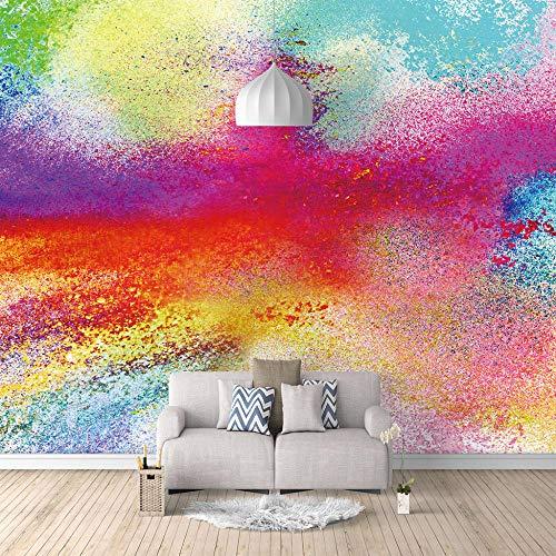 Wandgemälde Farbiges Rauchpulver Benutzerdefinierte 3D HD Tapeten Wohnkultur Paint Nostalgic Panel für Foto Home Art Wohnzimmer Schlafzimmer Küche