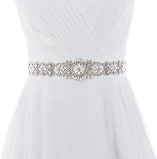Azaleas Women's Crystal Thin Wedding Belt Sashes Bridal Sash Belt for Wedding