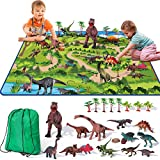 Dinosaur Toys - 14 Realistic Dinosaur Figures, Educational Dinosaur Playset with Activity Play Mat & Trees for Creating a Jurassic Dinosaur World, for Boy & Girl Aged 3 4 5 6 7+ Years