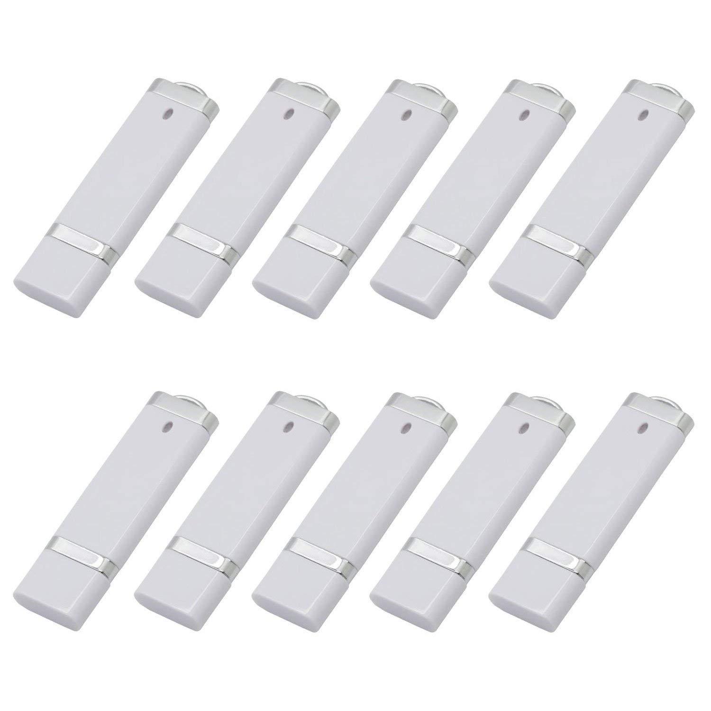 10PCS 32GB USB 2.0 Flash Drive -Bulk Pack-Memory Storage Thumb Stick Light