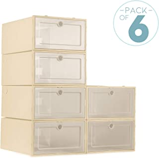 ZODDLE Foldable Shoe Storage Boxes-6 Pack